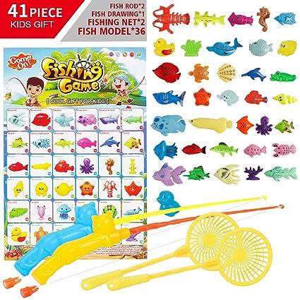 bdao gift Juguetes de Pesca 3-10 años niños y niñas Regalos ...