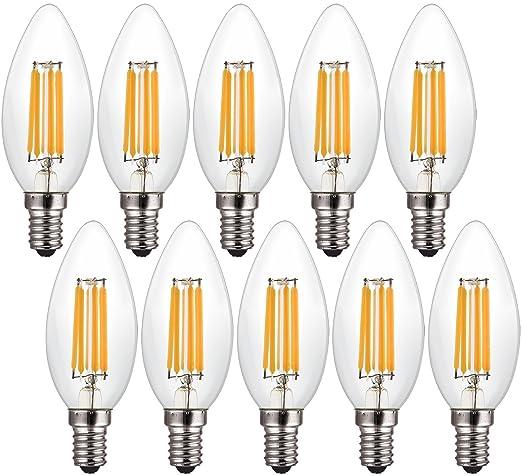 Canya LED luz bombilla Edison Candelabro LED filament ...