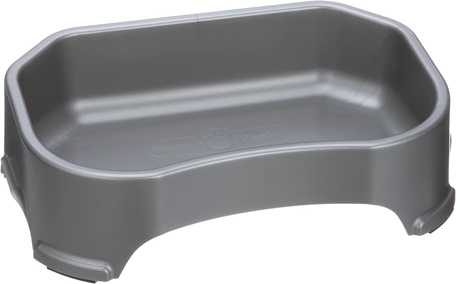 Neater Pet Brands Big Bowl - Extra Large Water Bowl for Dogs (1.25 Gallon Capacity, 160 oz) - Gunmetal Grey - Base for Neater Slow Feeder