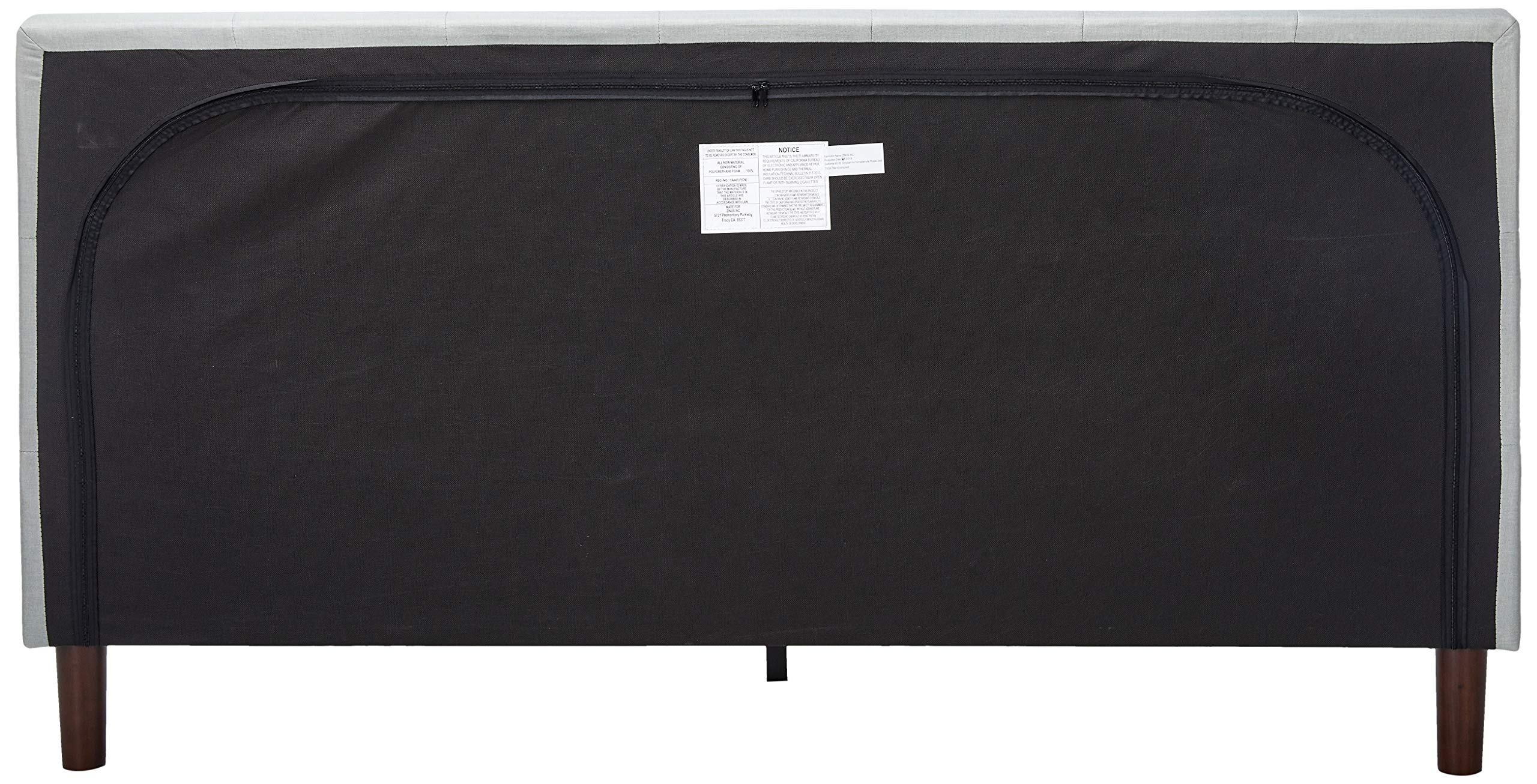 ZINUS Shalini Upholstered Platform Bed Frame with ZINUS 12 Inch Memory Foam Spring Hybrid Mattress