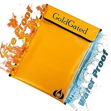 Amazon.com: Bolsa de documentos ignífuga, resistente al agua ...