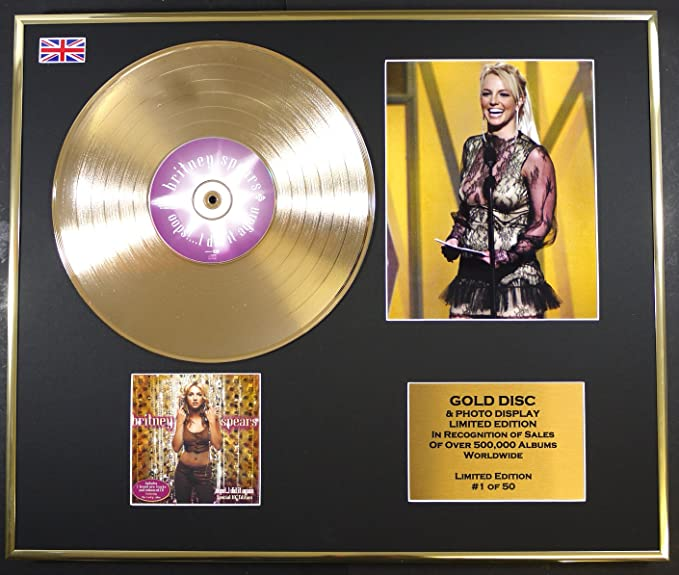 Britney Spears Gold Disc Record Photo Display Limited Edition Coa Oops I Did It Again Küche Haushalt