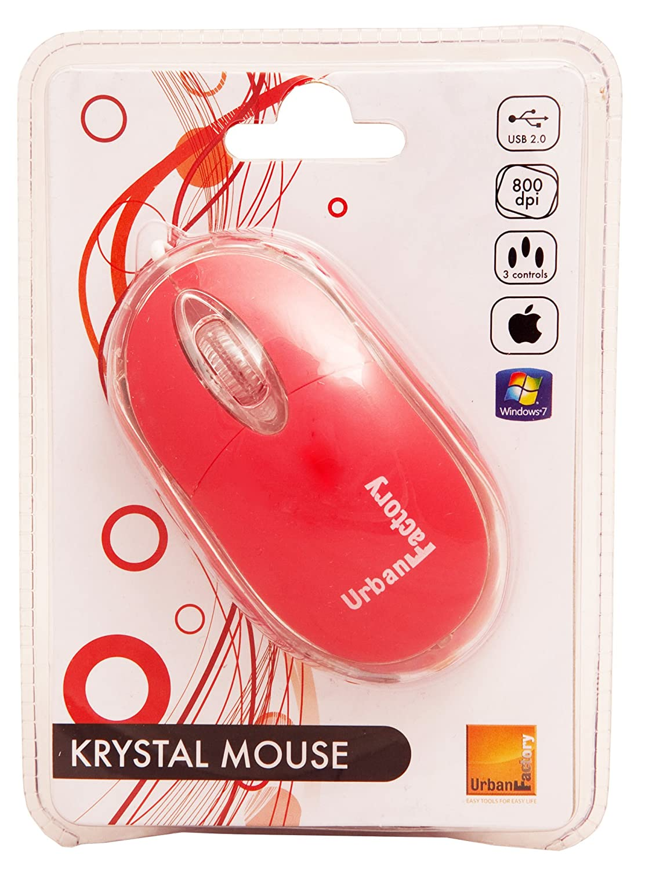 9ecad043766 Amazon.com: Urban Factory BDM04UF Cristal Mouse Optical USB 2.0, 800dpi,  Internal Light - Salmon: Computers & Accessories