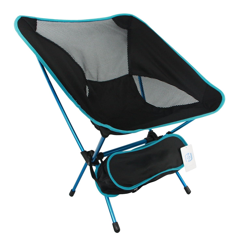 ashviee Easy Chair、超軽量ポータブル折りたたみキャンプ椅子、スーパーポータブル軽量アウトドアピクニック釣り旅行キャンプハイキングBBQ最適スポーツ B01MY6IF0T ブラック ブラック