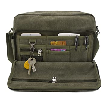 Amazon.com: Messenger Bag for Men, MiCoolker Multifunction ...