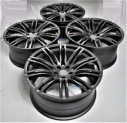 Amazoncom 21 Inch Black Staggered Wheels Rims Full Set
