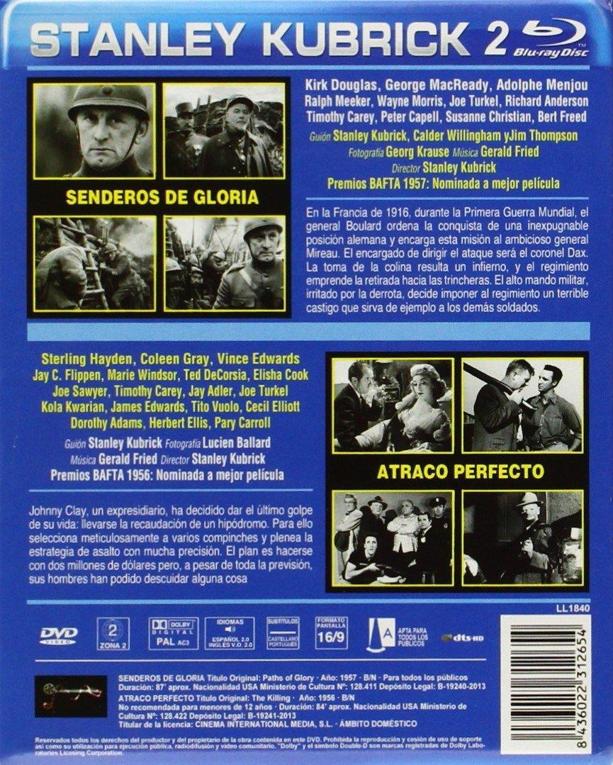 Pack Atraco Perfecto + Senderos de Gloria [Blu-ray]: Amazon.es: Kirk Douglas, George MacReady, Adolphe Menjou, Ralph Meeker, Sterling Hayden, Coleen Gray, Vince Edwards, Jay C. Flippen, Marie Windsor, Stanley Kubrick, Kirk Douglas,