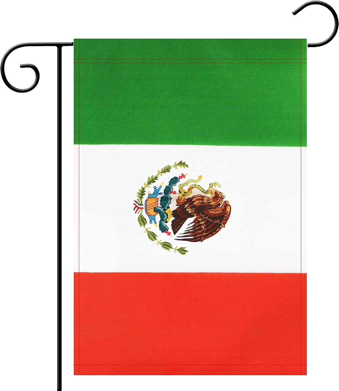 NoLogo Garden Flag Mexico Mexican Garden Flag,Garden Decoration Flag,Indoor and Outdoor Flags,Celebration Parade Flags,Anniversary Celebration, National Day,Double-Sided.