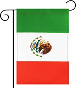 No Logo Garden Flag Mexico Mexican Garden Flag,Garden Decoration Flag,Indoor and Outdoor Flags,Celebration Parade Flags,Anniversary Celebration, National Day,Double-Sided.
