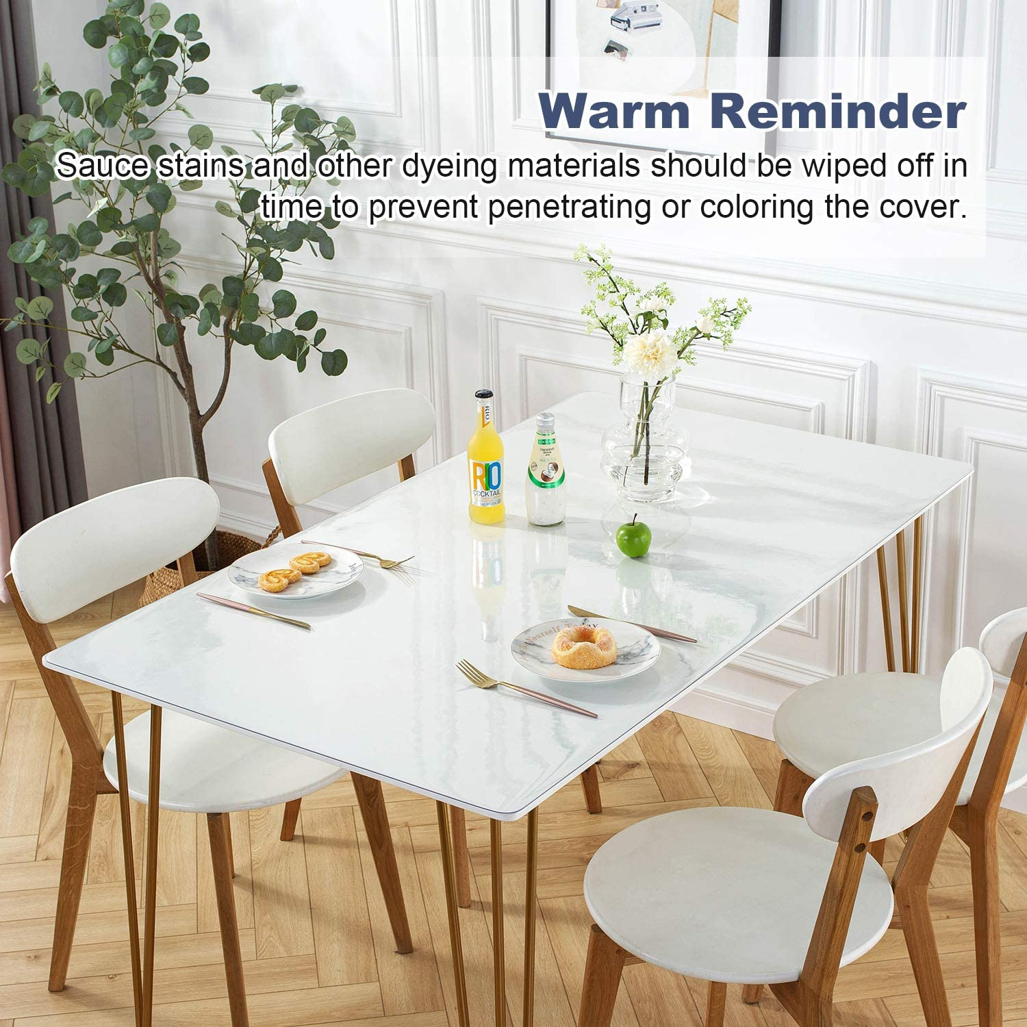 Writing Desk 4ft OstepDecor Custom 48 x 24 Inch Clear Table Cover Protector Clear Desk Pad Mat for Coffee Table 1.5mm Thick Desk Cover Plastic Table Protector Clear Table Pad Tablecloth Protector