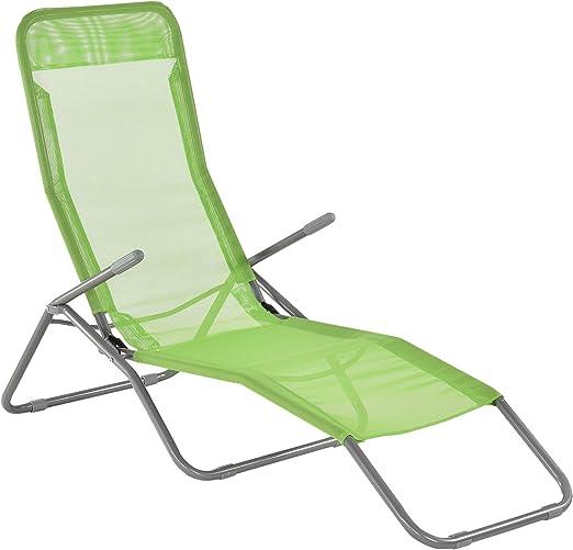 casa.pro ® Sonnenliege 190cm dunkelgrün mit Sonnendach Gartenliege Strandliege
