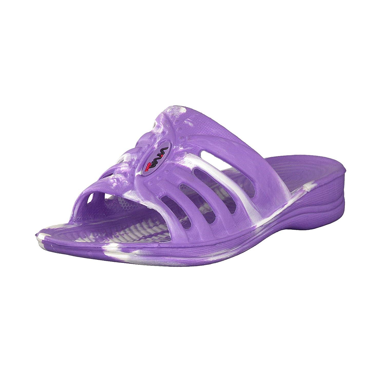 Brandsseller Sandale de Bain Femme Chaussures de Bain Claquettes de Plage- Couleurs: Gris, Violet, Bleu- Tailles: 36-41 de