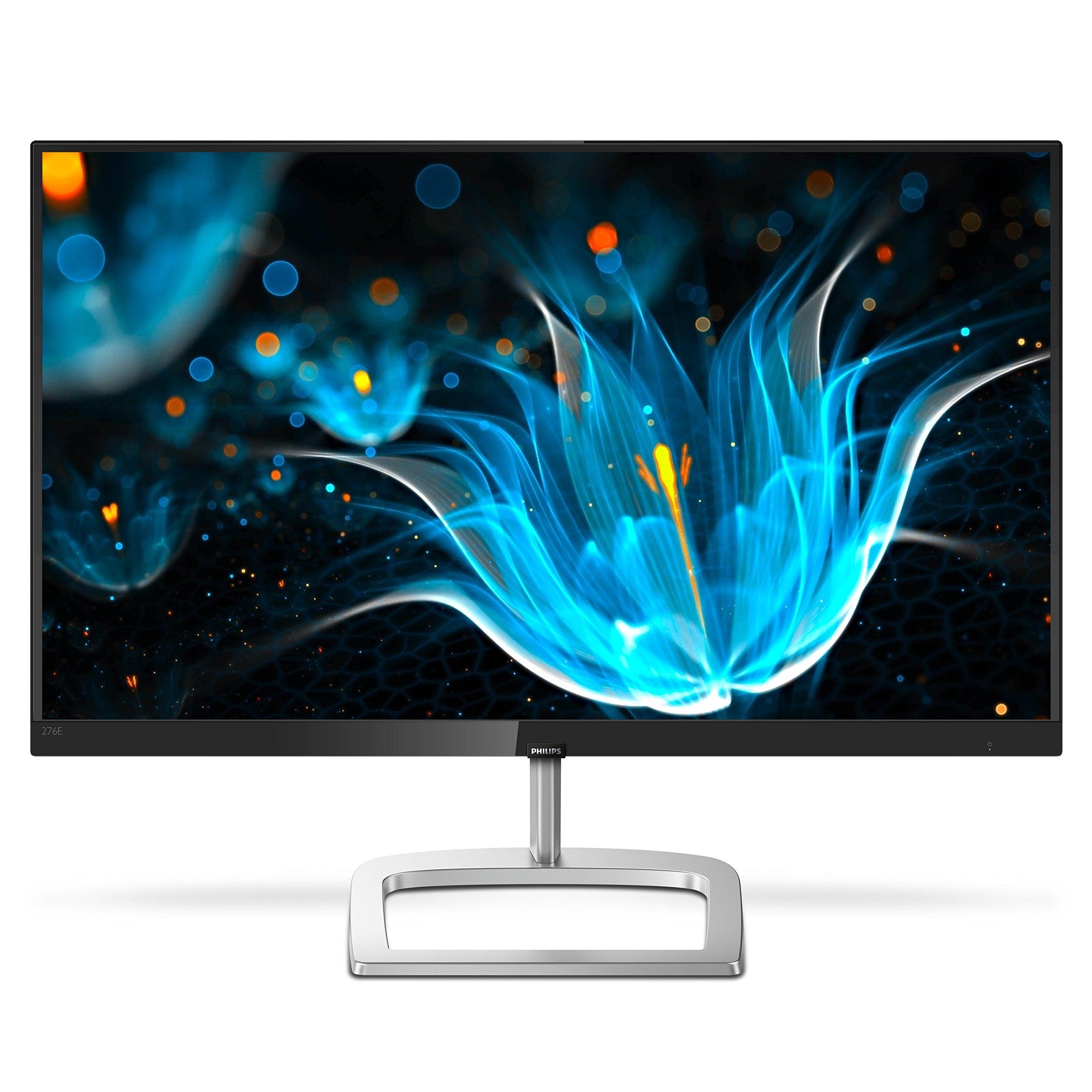 Philips 276E9QDSB 27'' Frameless Monitor, Full HD 1920x1080 IPS, 124% sRGB & 93% NTSC, FreeSync, HDMI/DVI-D/VGA, VESA