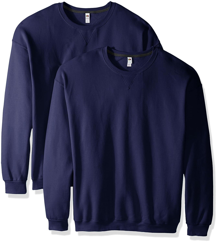 Fruit of the Loom Men's Crew Sweatshirt (2 Pack) SF72R