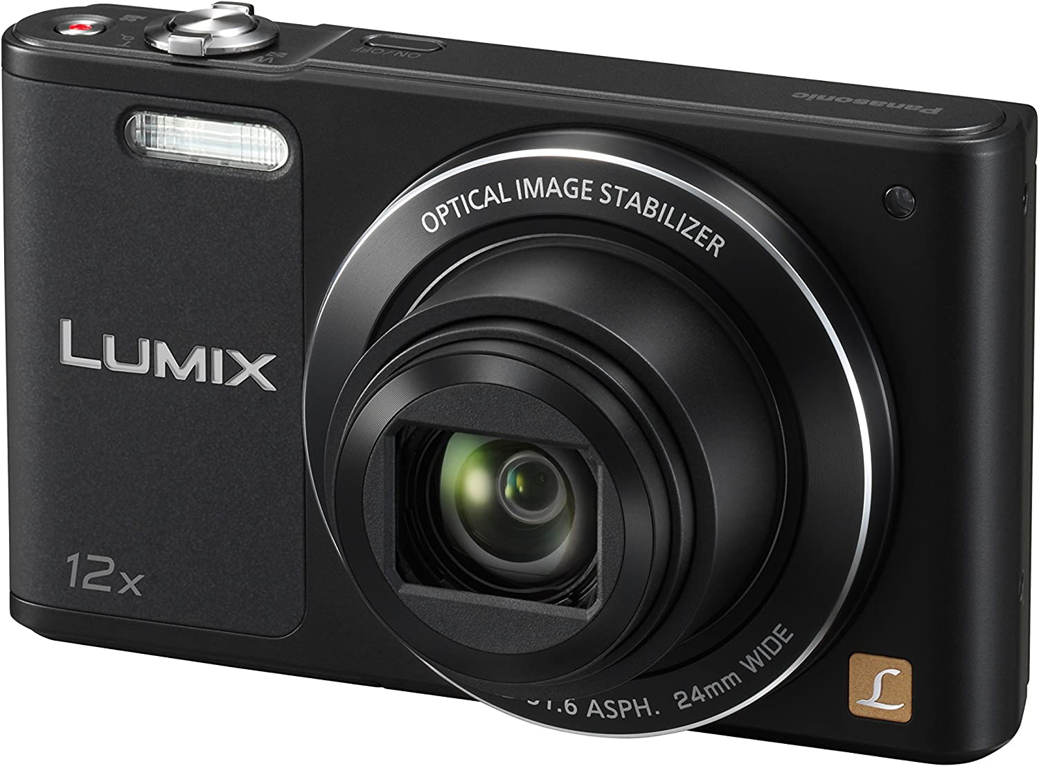 Panasonic Lumix Appareil Photo Compact Familial DMC-SZ10EF-K (Capteur 16MP, Zoom Lumix 12x, Grand angle 24mm, Ecran Inclinable, Vidéo HD, Modes Selfies, Stabilisé) Noir – Version Française