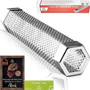 Amazon.com: LizzQ - Tubo ahumador para pellet, 12 pulgadas ...