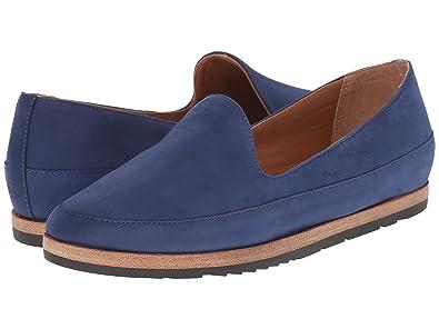 4370b1895e3 Franco Sarto Jagger Womens Slip On Loafers Dark Indigo Leather 6.5