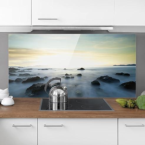 Bilderwelten Spritzschutz Glas - Sonnenuntergang über dem Ozean ...