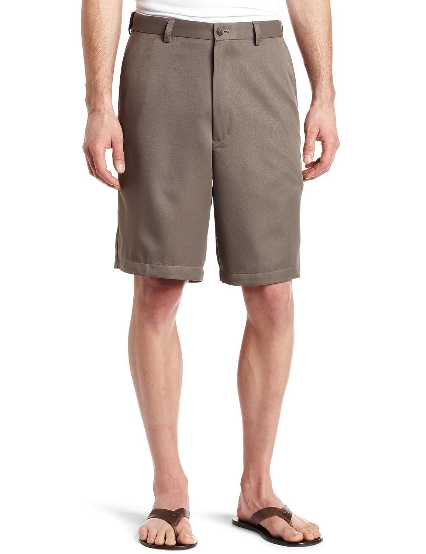 Haggar Mens Big-Tall Cool 18 Gabardine Hidden Expandable Waist Plain Short