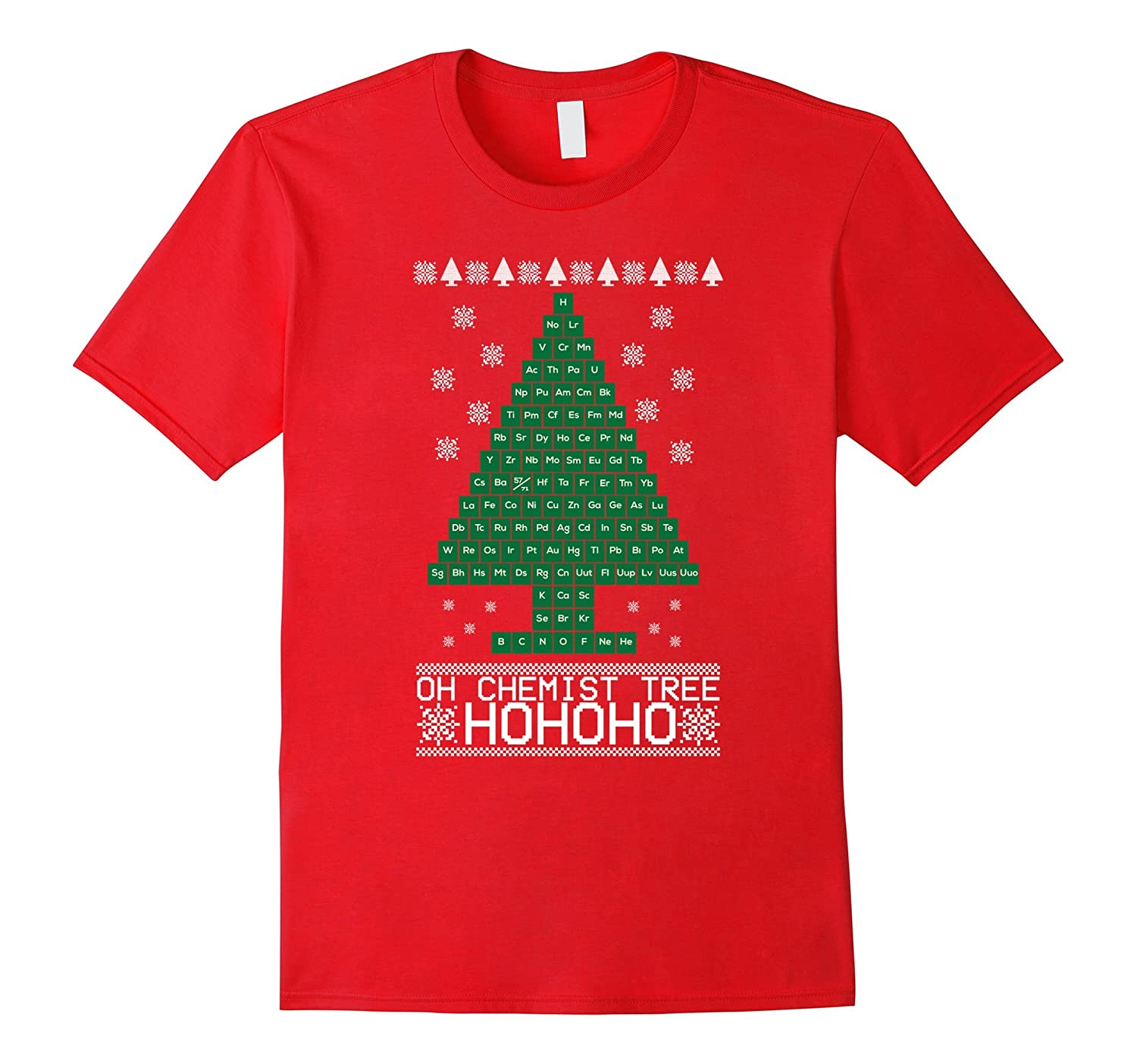 Oh Chemist Christmas tree Periotic Table funny t-shirt-ANZ - Anztshirt