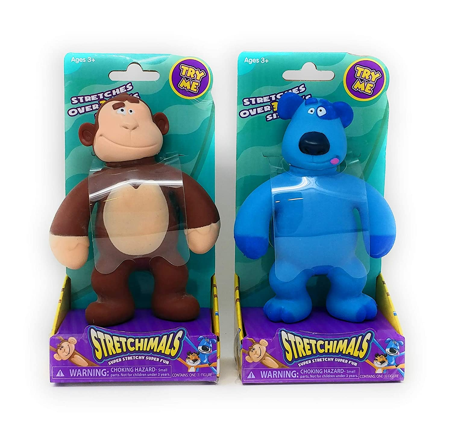 Yanky Monkey /& Pully Puppy NEW Stretchimals Set of 2