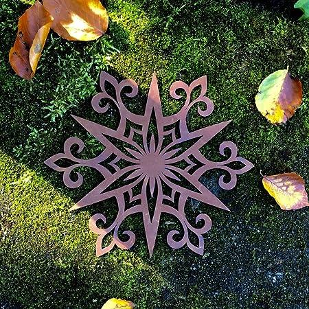 Antikas Metall Gartendeko Strohsterne Antik Rost Dekoration