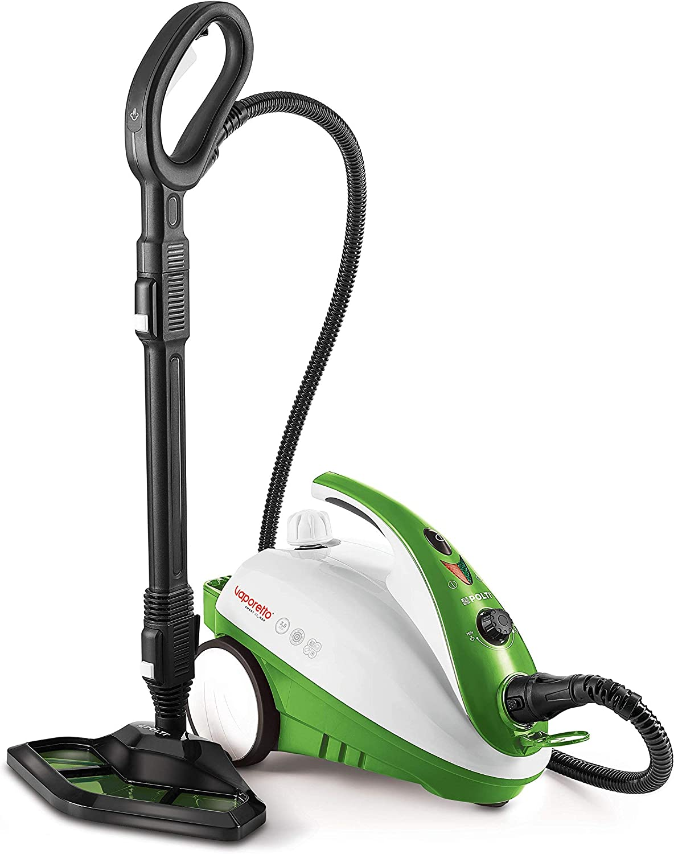 Polti Vaporetto Smart 35 Mop Limpiador a Vapor con Cepillo Vaporforce, Caldera de Alta Presión de 3.5 Bar, 1800 W, 1.6 litros, plástico, Acero Inoxidable, Verde