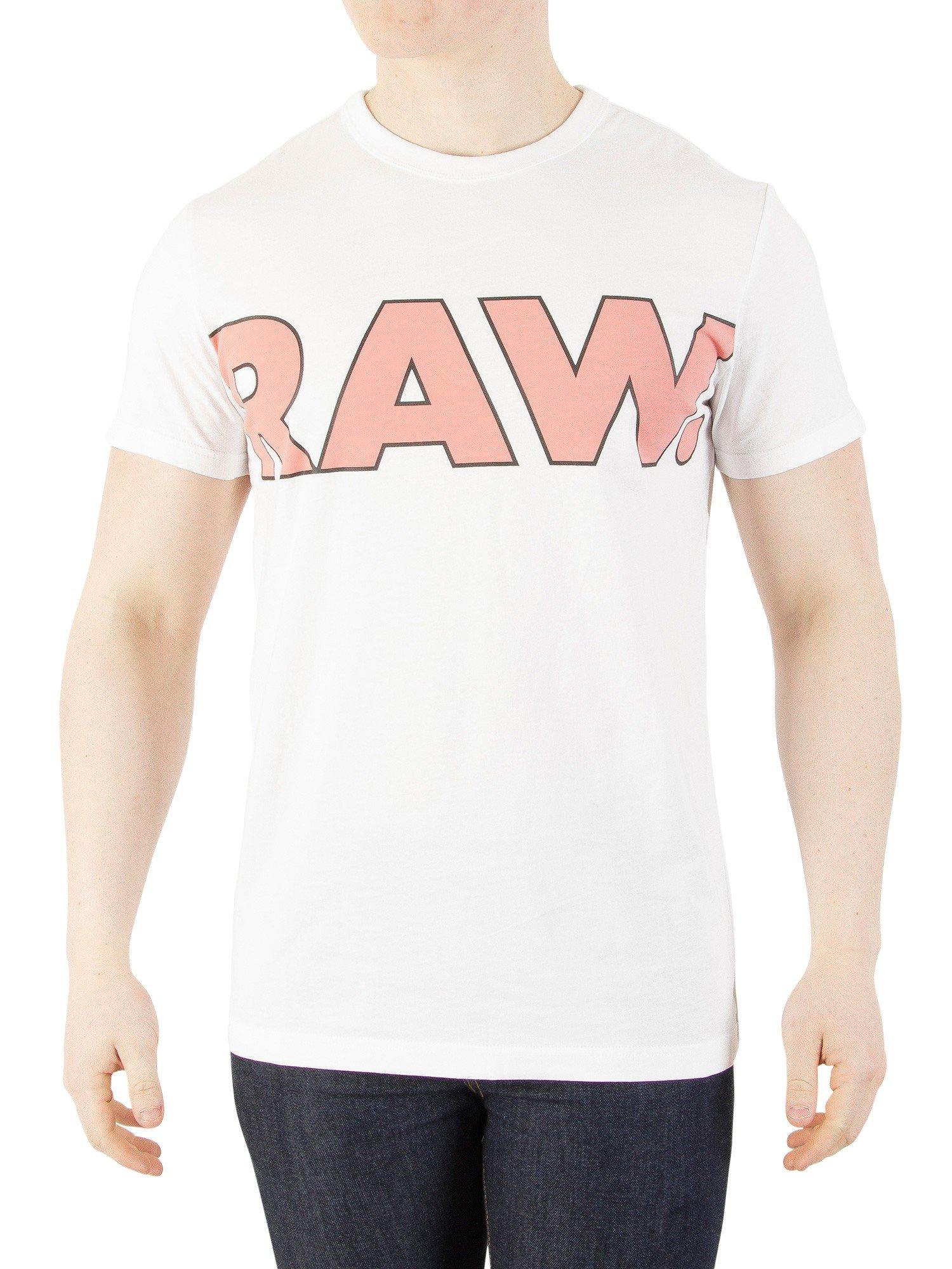 G-Star Men's FAMA Regular T-Shirt, White, X-Large