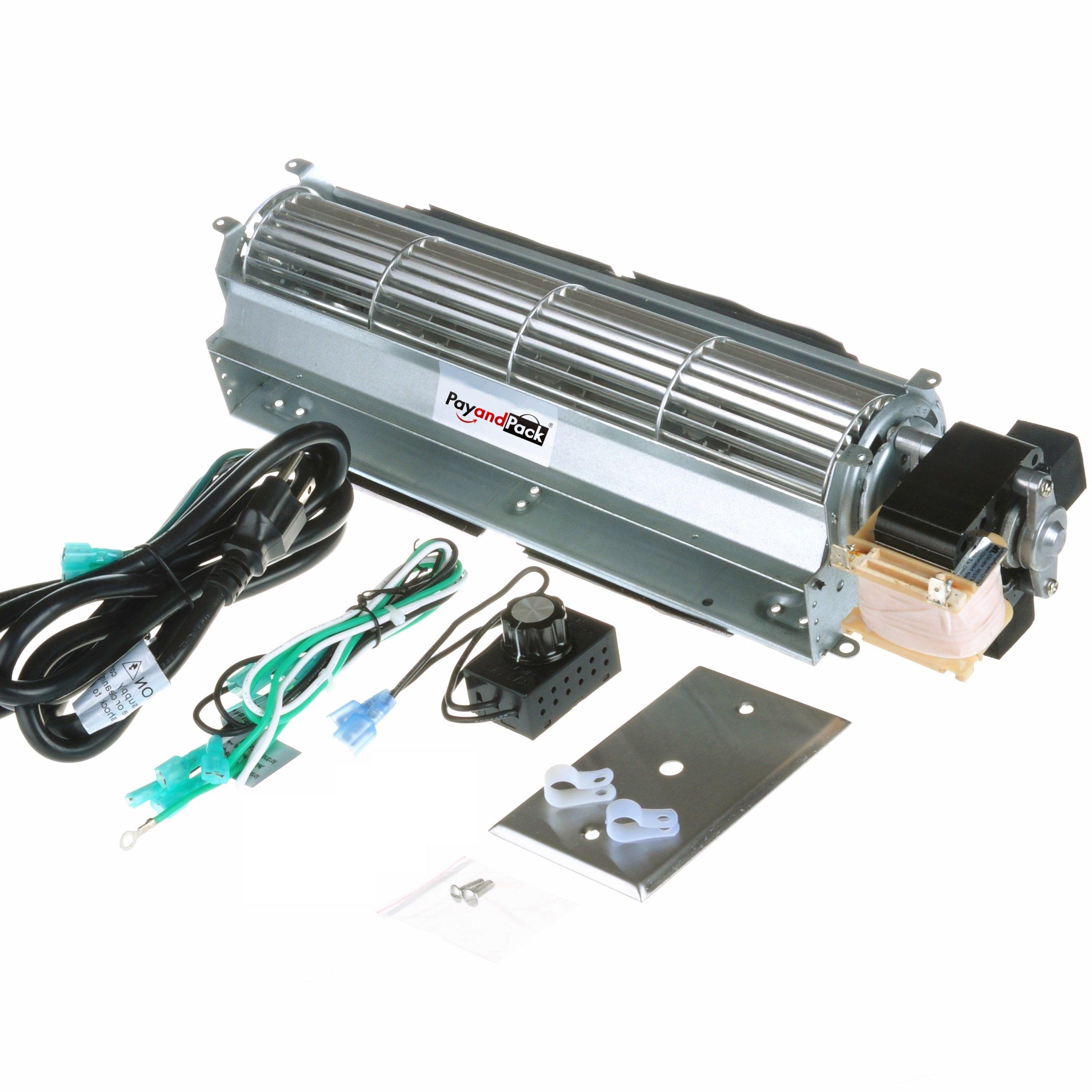 Durablow BK BKT GA3650 GA3700 GA3750 Replacment Fireplace Blower Fan Unit for Desa, FMI, Vanguard, Vexar, Comfort Flame Glow, Rotom ... (MFB010-A) by Durablow