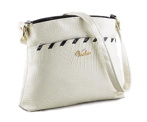 c4584a1a9f Voaka Women s Sling Bag (White)…  Amazon.in  Shoes   Handbags