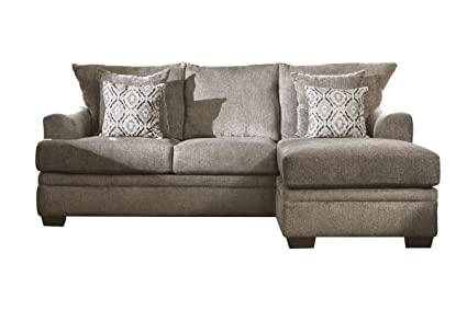 Peachy Amazon Com Lynwood Chenille Sectional With Moveable Chaise Pdpeps Interior Chair Design Pdpepsorg