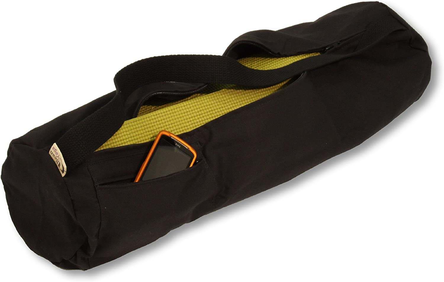 Organic Cotton or Hemp Choose Large for Standard Mats or Extra Large for Oversize or More Room for Accessories 2 Sizes Bean Products Yoga Mat Bags from A Multitude of Colors in Cotton