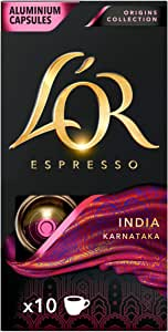 L'OR Espresso Coffee India Intensity 10 – Nespresso®* Compatible Capsules (10 Packs of 10 Capsules)