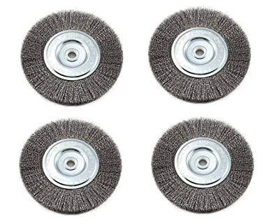 Coarse Crimped Wire 0.012 Thickness 1pcs 1//2 5//8 7//8 Arbor Hole for Bench Grinder EMILYPRO Wire Bench Wheel Brush 8