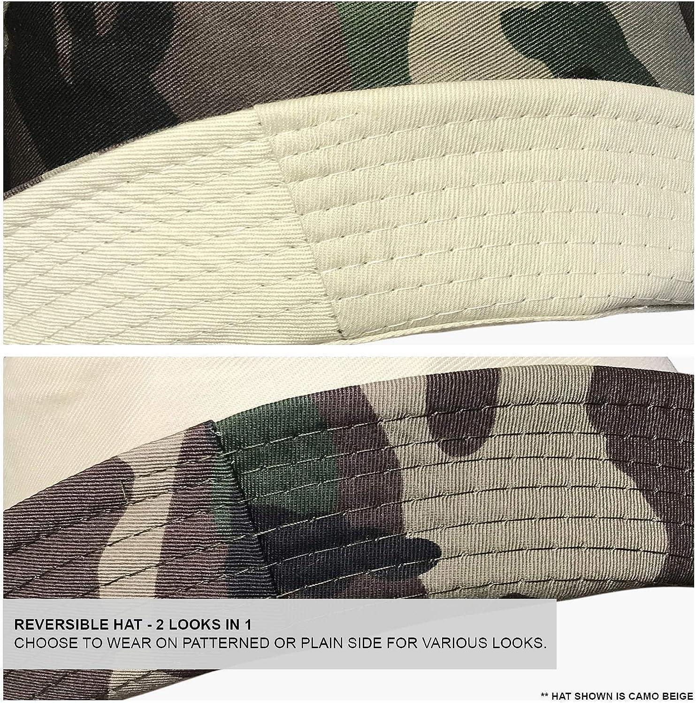 Boys Kids Camouflage 2 in 1 Reversible 100/% Cotton Summer Beach Bucket Sun Hat TOSKATOK/® UPF 50
