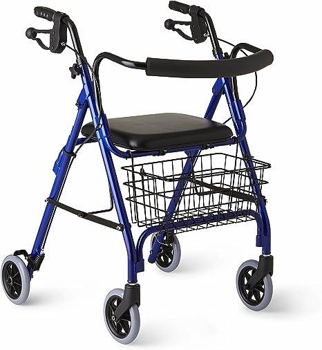 Amazon.com: Medline plegable rollator Walker, MDS86800B ...