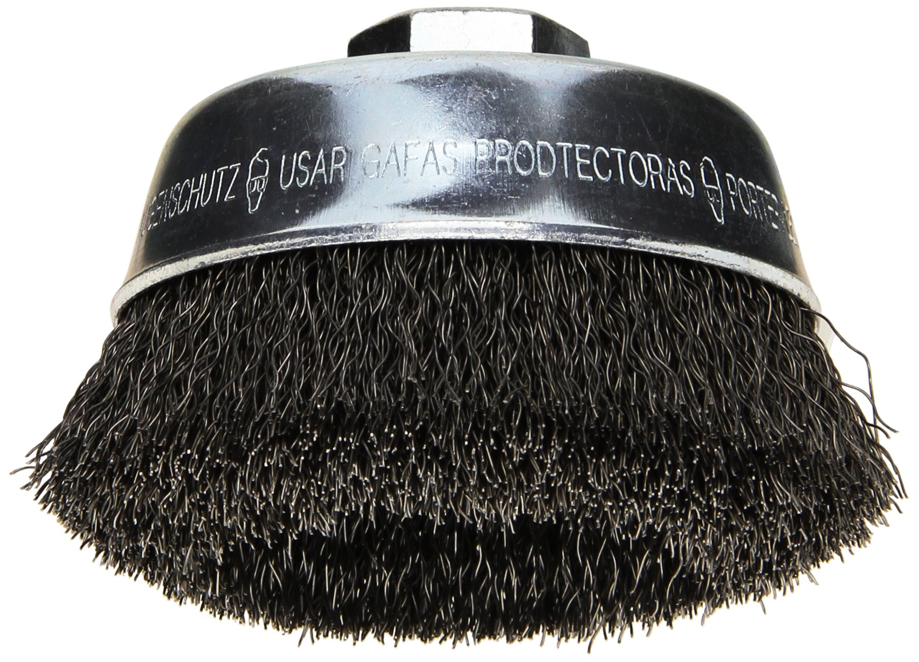 Bosch WB524 3 1/2-Inch Crimped Carbon Steel Cup Brush, 5/8-Inch x 11 Thread Arbor