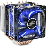 DEEPCOOL NEPTWIN V2.0 CPU Cooler Dual 120mm Fans with Blue LED One with PWM 6 Heatpipes Twin-tower Heatsink