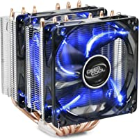 DEEP COOL NEPTWIN V2, Disipador de CPU,6 Tubos de Calor, Doble Torre, 120 mm CPU Ventilador, Color Negro