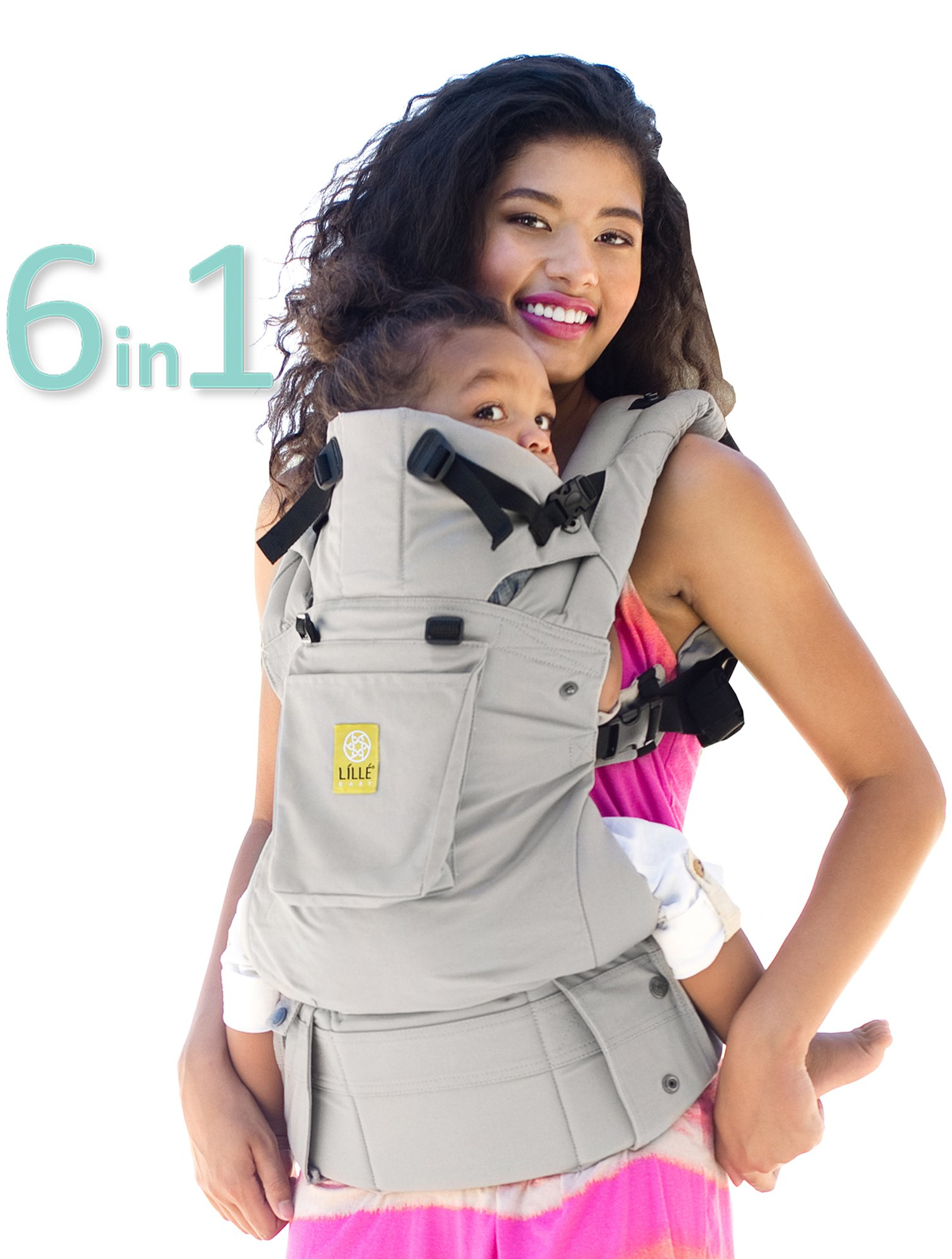 SIX-Position, 360° Ergonomic Baby & Child Carrier by LILLEbaby – The COMPLETE Original (Stone)