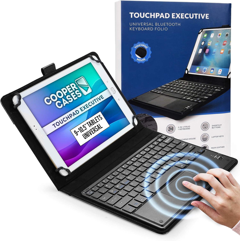 Cooper Panel Táctil Ejecutiva [Teclado de Ratón Multitáctil] Funda para Tableta de 9-10.5 Pulgadas | Ajuste Universal | iPadOS, Android, Windows ...
