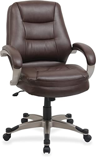 Lorell Mid-Back Managerial Chair, 26-1 2 by 28-1 2 by 43-1 2-Inch, Saddle