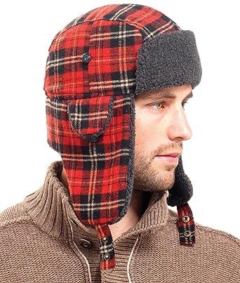 827cae2e4 Mens Tartan Check Trapper Hat