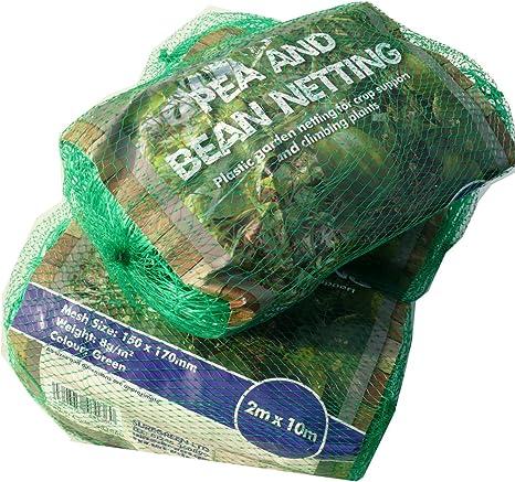 Suregreen 2 mx100 m Planta Apoyo Malla/Guisantes y judías. 150 x 150 mm Agujero. Malla de plástico Escalada. Plástico Verde Malla de Apoyo Vegetal.