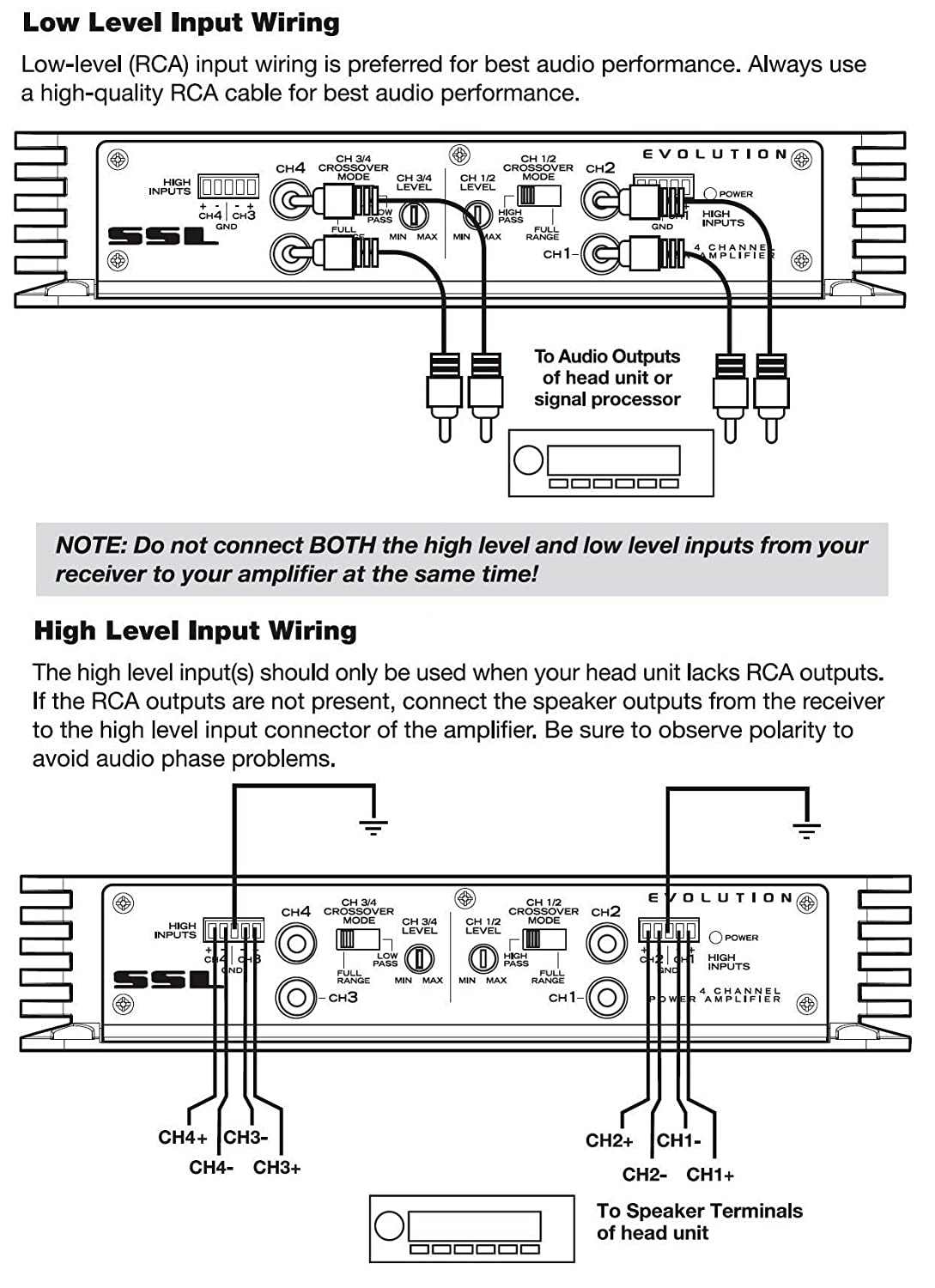 Crossover Wiring Diagram Lc8i Detailed Schematic Diagrams Cable 4 Channel Speaker Epic 400 Watts Full Range Cat 5