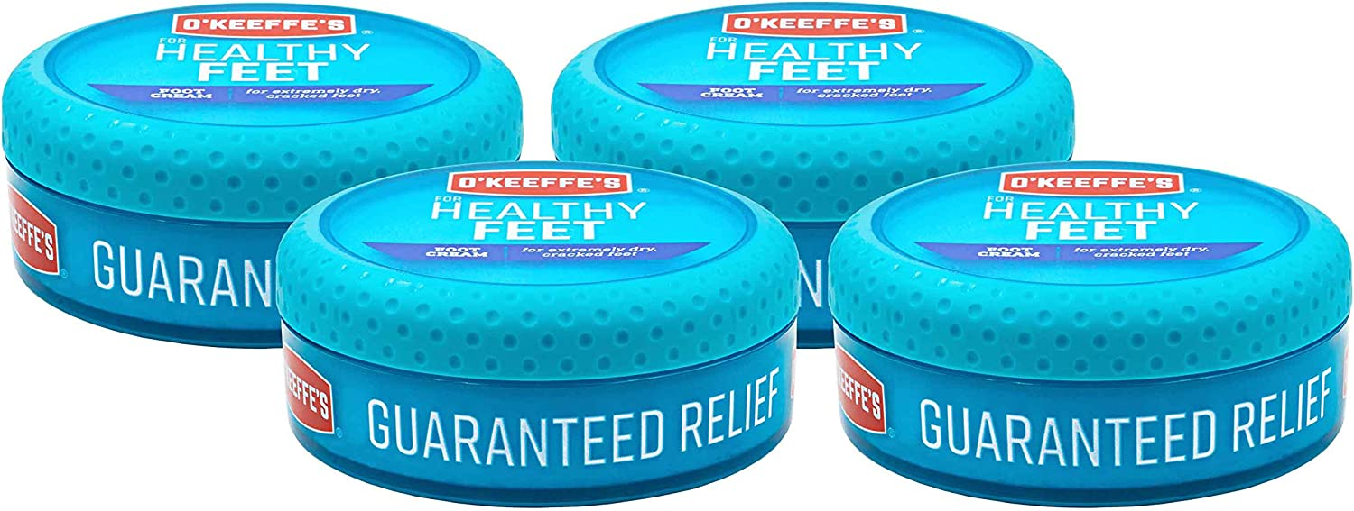 O'Keeffe's For Healthy Feet Foot Cream, 3.2 Oz, 4 Count