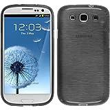 PhoneNatic Custodia Case Per Samsung Galaxy S3Neo Custodia Silicone Brushed Argento Cover Galaxy S3Neo Custodia + 2Pellicole