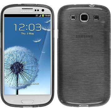 PhoneNatic – Carcasa para Samsung Galaxy S3 Neo Funda Silicona Plata Brushed Cover Galaxy S3 Neo Funda + 2 Protectores