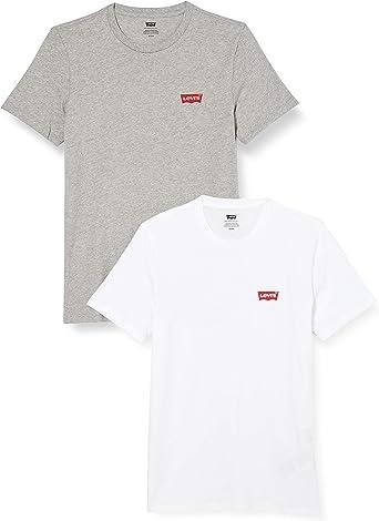 TALLA XXS. Levi's 2pk Crewneck Graphic Camiseta para Hombre