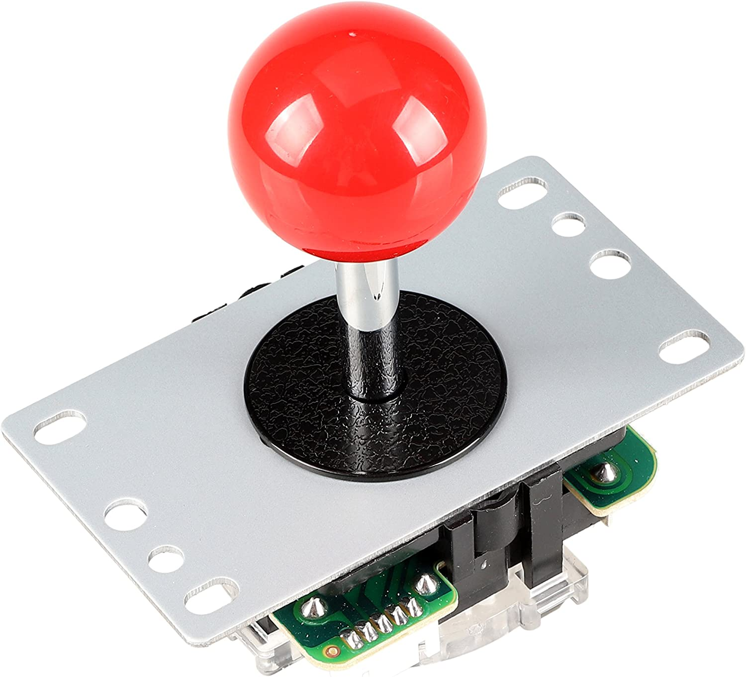 EG STARTS Arcade Classic Competition 5 Pin Stick 5P Rocker 8 Maneras Joystick para PC Xbox 360 PS2 PS3 Juegos KOF SNK Arcade DIY Kit Parts Mame Jamma Machine Gaming (Rojo)
